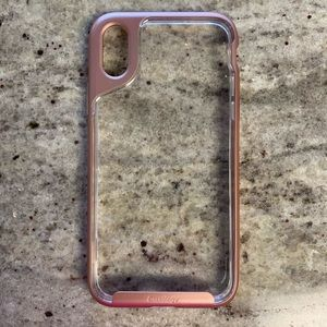 IPhone 10 case Caseology Clear and Rose Gold